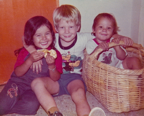 My brothers and I, in Guayaquil, Ecuador circa 1977.